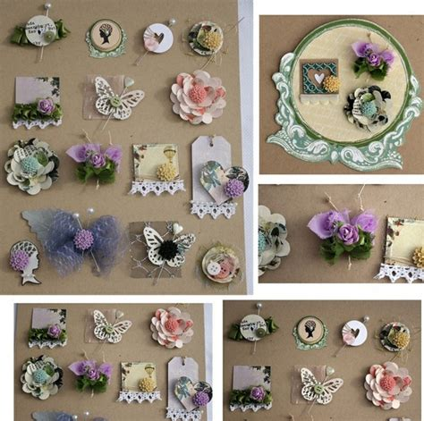 Handmade Scrapbook Embellishments - handmade embellishments card embellishments to make