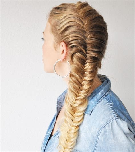 fishtails with braided hair the prettiest french plait exles to try out this summer