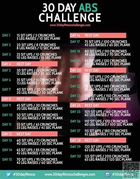 25 day ab challenge best 25 30 ab challenge ideas on ab challenge