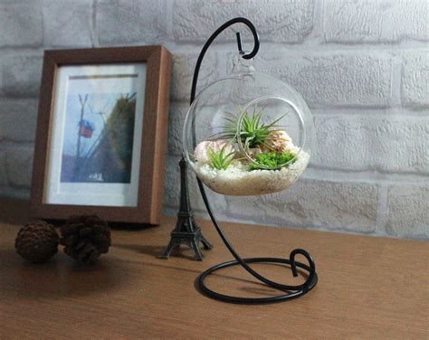 Office Desk Terrarium Home Decoration Office Desk Decor Terrarium Kit With Quartz