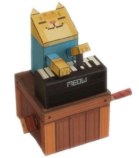 Papercraft Cats - papercraft keyboard cat meow