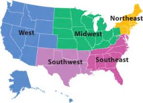 regions and sections map the american institute of