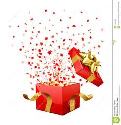 surprise gift box stock illustration image of scatter