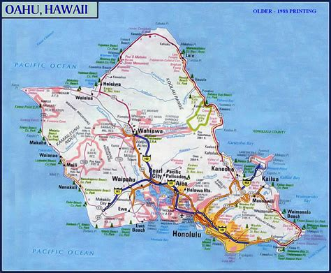 printable road map of hawaii driving map of oahu pictures to pin on pinterest pinsdaddy