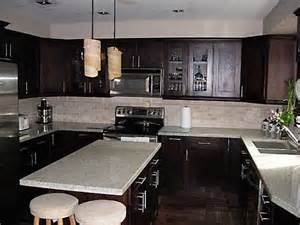 white and espresso kitchen cabinets espresso kitchen love the combination of dark cabinets