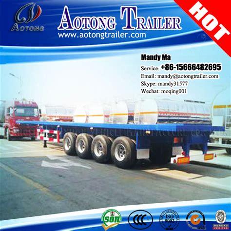 a la carga 80 1500762393 transporte de carga a granel 80 toneladas 4 eje cama plana dimensiones remolque para la venta