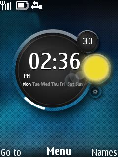 themes weather clock download weather clock nokia theme mobile toones