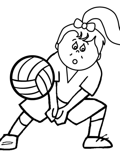 printable coloring pages sports printable volleyball5 sports coloring pages