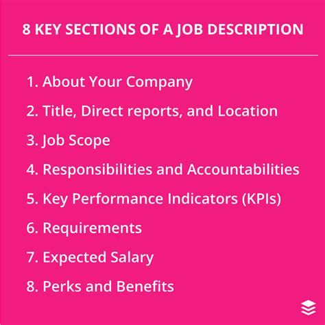 job description sections how to write a great social media manager job description