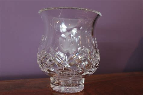 crystal hurricane table ls vintage waterford inishmore hurricane two piece crystal