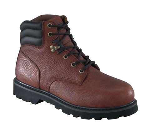 knapp boots mens knapp mens brown leather 6in work boots backhoe steel toe