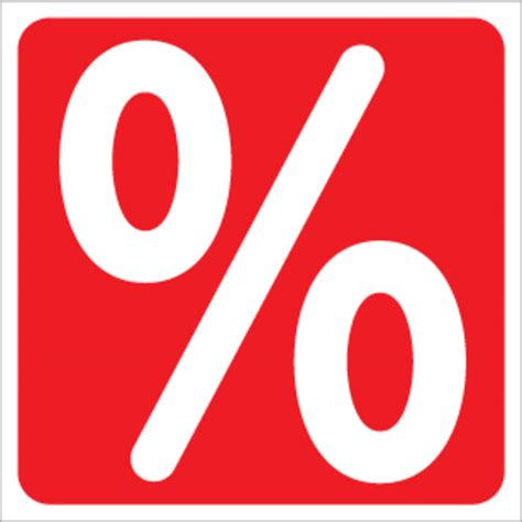 Aufkleber Drucken Quadratisch by Gro 223 Er Aufkleber Prozentzeichen Quadratisch Vkf Renzel