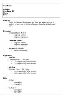 Resume Template College Graduate by 10 College Resume Templates Free Sles Exles