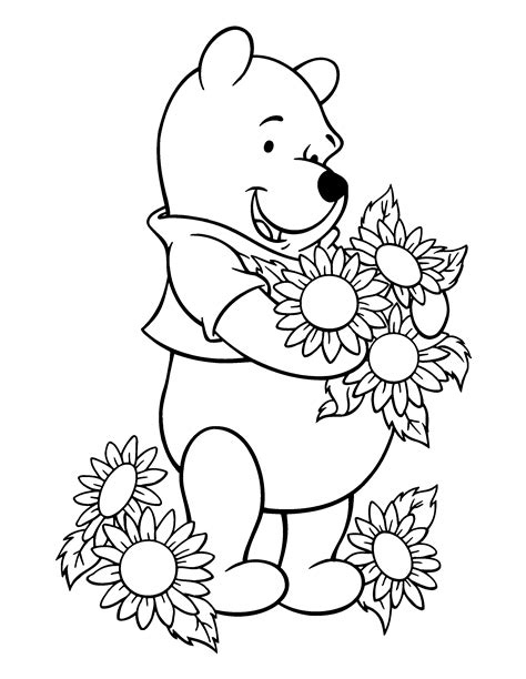 coloring page of winnie the pooh free winnie and friends coloring pages