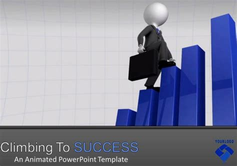Business Presentation Template For Powerpoint With Animated 3d Graphs Success Powerpoint Templates Free