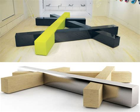 design bench intersecting benches to instigate public conversations