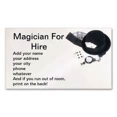 1000 Images About Magician Business Cards On Pinterest Business Card Templates Business Magician Business Card Template