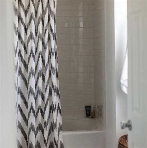 chevron shower curtain contemporary bathroom grey