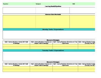 interactive lesson plan template pam aursland teaching resources teachers pay teachers