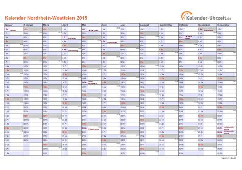 Nrw Kalender 2015 Feiertage 2015 Nordrhein Westfalen Kalender