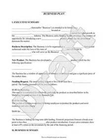 Free Business Plans Templates Small Business Plan Template Pdf