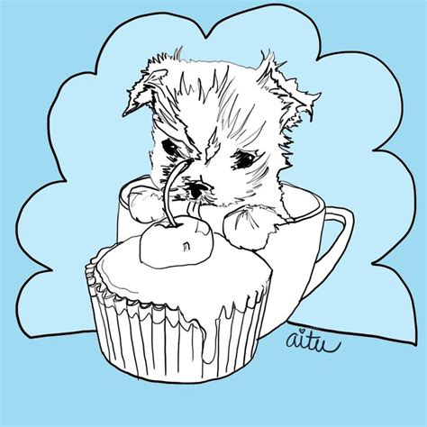 teacup puppies coloring pages 230 best images about dessin yorkie on pinterest
