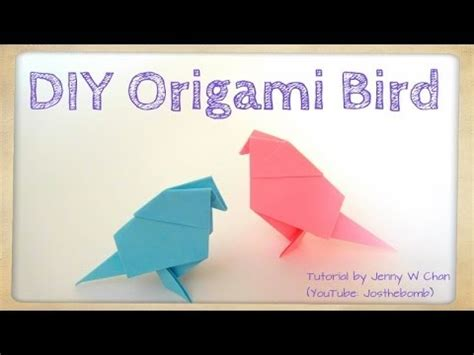 Origami For 9 Year Olds - diy origami bird tutorial paper crafts easter crafts