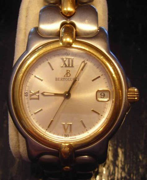 bertolucci mens pulchra 18k gold and stainless