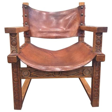 vintage armchairs for sale vintage spanish baroque leather armchair for sale at 1stdibs