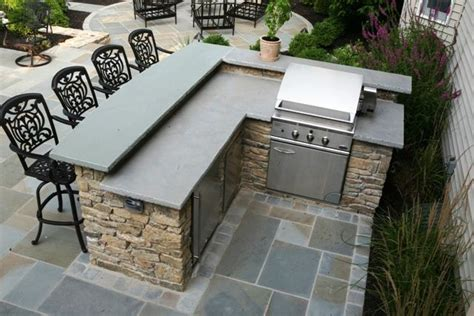 Backyard Bbq Bar New Jersey Outdoor Kitchens Built In Grills Granite