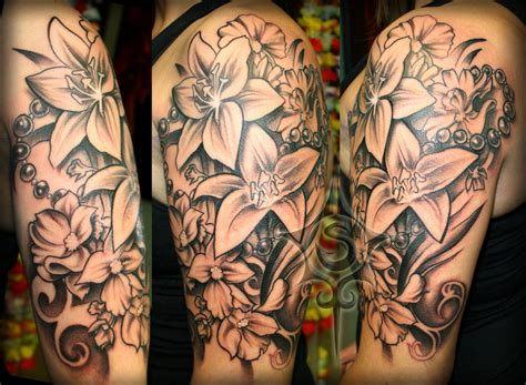 flower tattoos sleeve flower half sleeve by illogan deviantart on