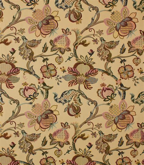 Upholstery Colorado by Ibiza Tapestry Fabric Cranberry Just Fabrics