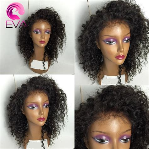 women of color curly full hair weaves with bangs brazilian kinky curly lace front wig glueless full lace