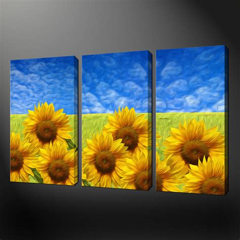 canvas prints sunflower field canvas wall art pictures prints free uk p p size variety canvas print art