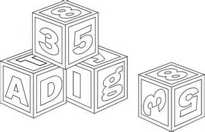 coloring pages of baby blocks collections