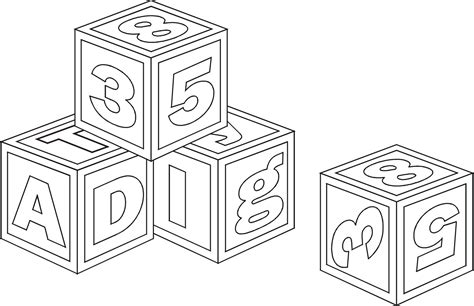 Abc Blocks Coloring Pages Block Coloring Pages