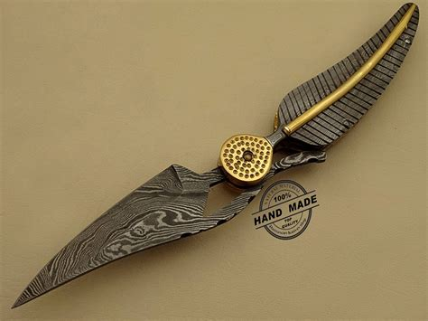 Handmade Designer - professional damascus folding knife custom handmade damascus
