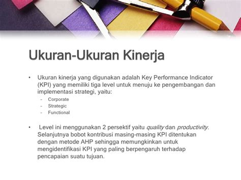 Performance Measurement Ukuran Kinerja 23 maintenance scorecard
