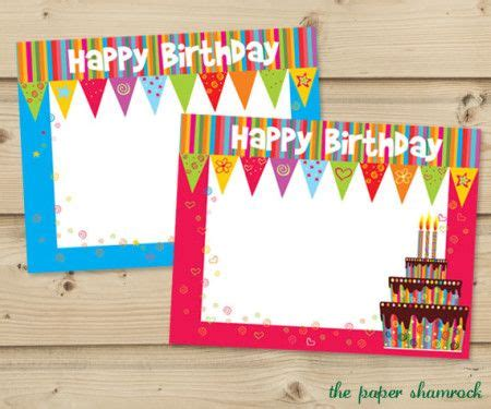 print free birthday cards no download 17 best images about free downloads on pinterest party