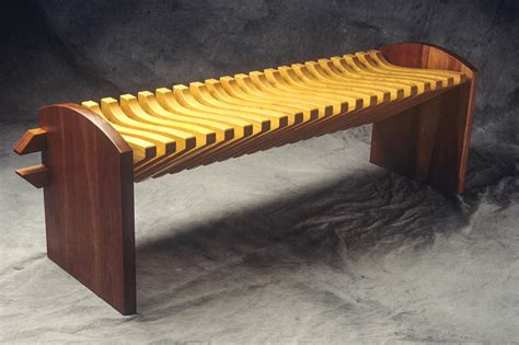 custom wood bench vertebra bench custom hardwood seating seth rolland
