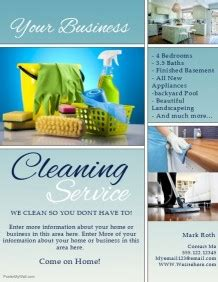 Cleaning Advert Template by Cleaning Service Flyer Templates Postermywall