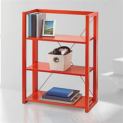 bed bath and beyond bookcase buy wooden folding and stacking bookcase in black from bed bath beyond