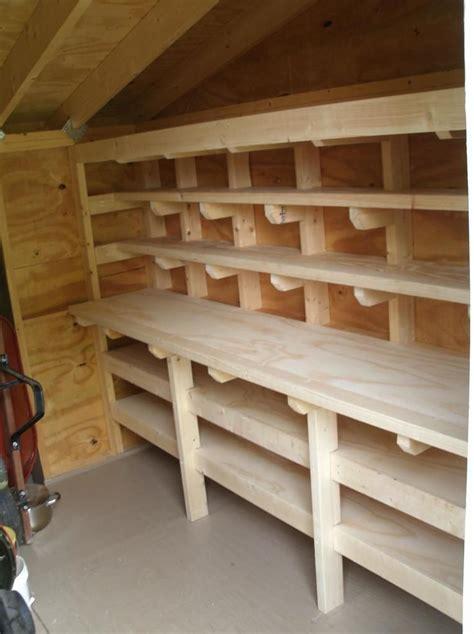 shed workbench  shelves storage shed organization