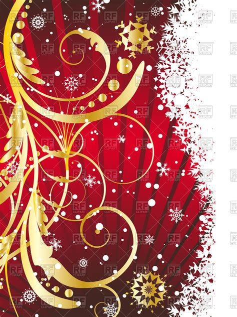 vertical christmas card vector image  backgrounds