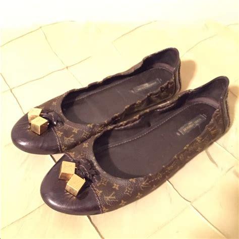 Sepatu Flat Louis Vuitton Pointy 17 louis vuitton shoes louis vuitton monogram ballerina flats from s closet on