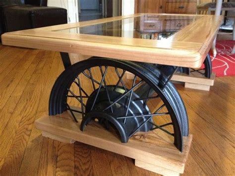 car coffee table antique car wheel coffee table by farmshopfurniture on