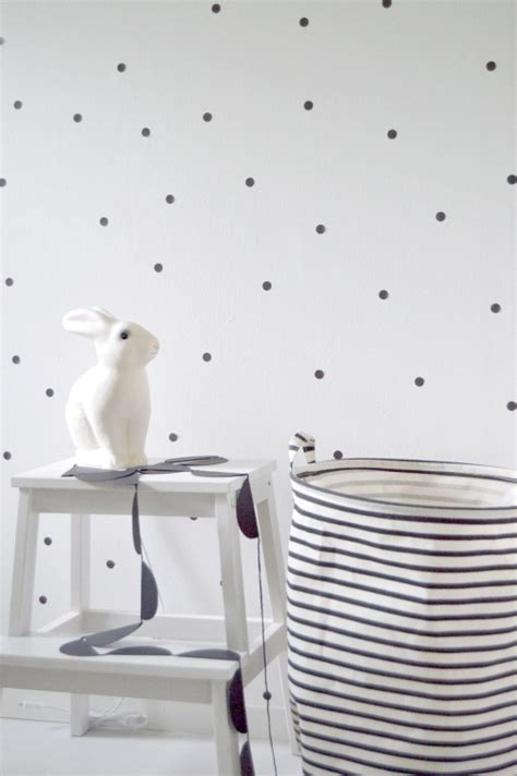 Polka Dot Stickers For Walls chambre d enfants en noir et blanc pois triangles