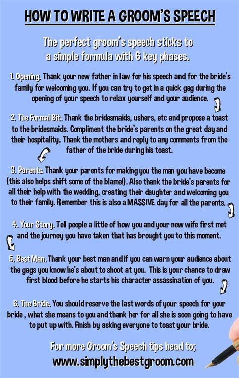 How To Write A Groom S Speech Www Simplythebestgroom Com Random Pinterest Wedding Groom Speech Template