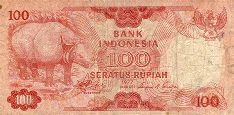 Uang Kertas 100 Rupiah Tahun 1977 uang kertas rp 100 seratus rupiah indonesia bergambar