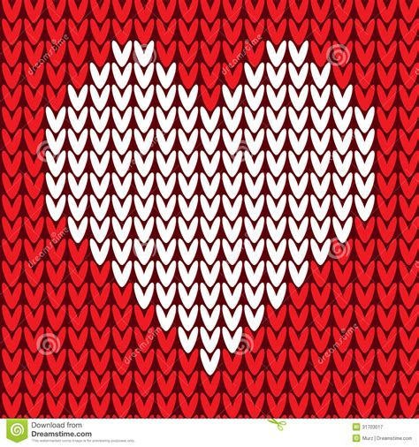 knit pattern vector seamless pattern with heart stock vector image 31703017
